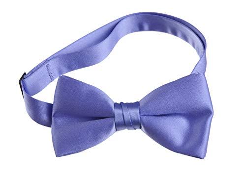 Boys' & Adult Deluxe Satin Adjustable Bow Tie By Tuxgear (Mens, Porto Lavender)