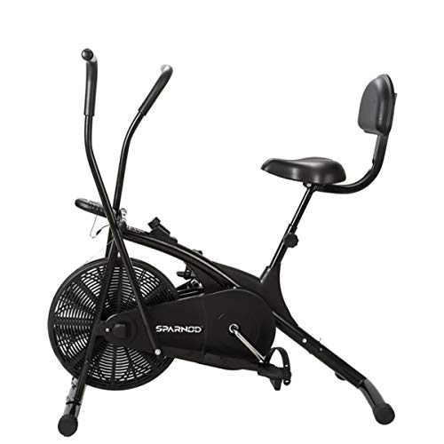 Sparnod Fitness SAB-05 Air Bike Exercise Cycle for Home Gym - Dual Action for Full Body Workout...