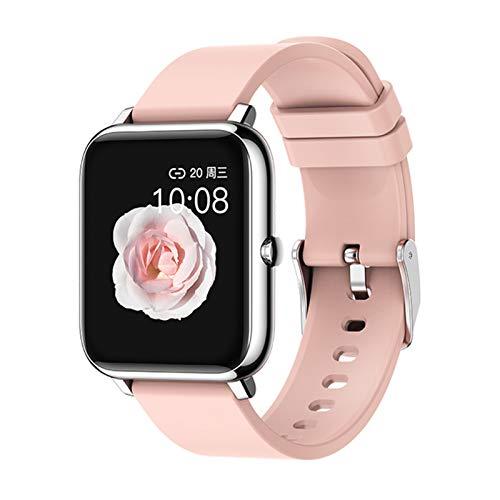 LJMG Smartwatch, P22 Reloj Deportivo para Hombres Y Mujeres, Pulsera De Rastreador De Fitness, Dormir, Monitoreo De Ritmos Cardíaca IP67 Smartwatch para Android iOS,A