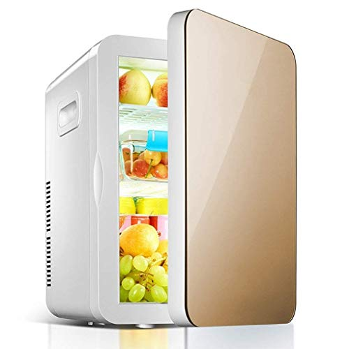 DX Mini-Kühlschrank – Kompakter Kühlschrank mit 20 l Fassungsvermögen für 30 Dosen mit 330 ml   elektrischer Kühlschrank für Party Truck Travel Outdoor Camping (Farbe: Gold) goldfarben