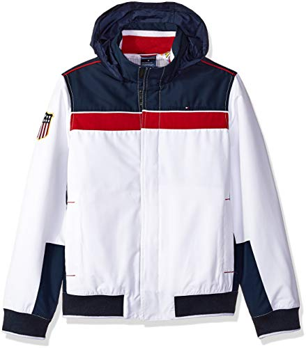 Tommy Hilfiger Boys' Adaptive Regatta Jacket with Magnetic Buttons, Core Navy Small