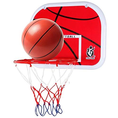 ZDNB Tablero de Baloncesto para niños, Tablero de Baloncesto Colgante portátil aro de Baloncesto montado en la Pared para Juguetes Deportivos en Interiores y Exteriores, Rojo, 34 cm × 25 cm