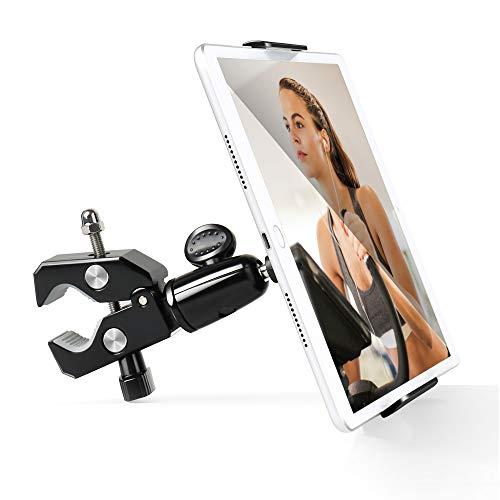 Luxtude Metal Soporte Tablet, Soporte Tablet para Cinta de Correr Bicicleta, Treadmill Soporte Tablet para iPad Pro, iPad Mini, iPad, iPhone, Samsung, más tabletas y teléfonos de 4.7-12.9 Pulgadas