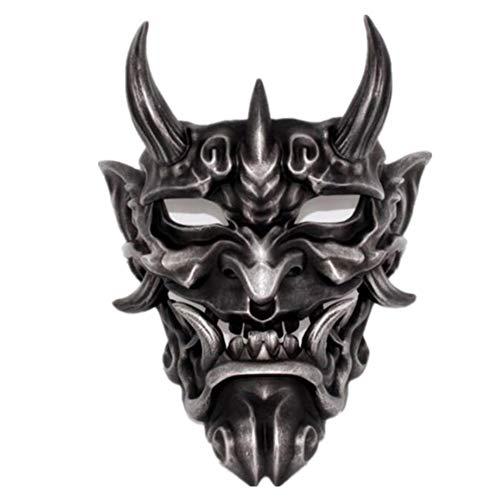 YC Horror Ghost Face Mask, Adult Fancy Dress Party Party Cosplay Dress Up Disfraces, Los Cdigos Unisex Son Adecuados para Todo Tipo De Emociones para Varias Ocasiones,Plata