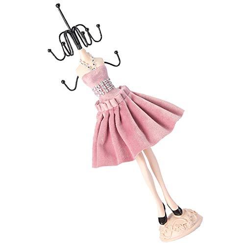 Baoblaze Kreative Puppe Schaufensterpuppe Kleid Jewel Ständer Halter Halskette Ohrring Organizer