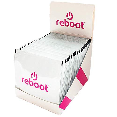 REBOOT® Sport & Energy Brause | Isotonischer Energizer mit Dextrose, Elektrolyten, Vitaminen und Koffein! | Display mit 24 praktischen Beuteln