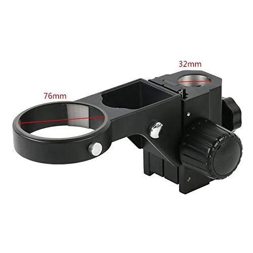 Portabl 76mm Diameter Adjustable Zoom Stere Microscopes Focusing Holder Focusing Bracket for Tinocular Microscope Binocular Microscope (Color : 32mm Black)