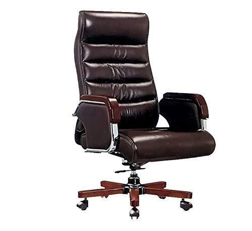 Silla giratoria para computadora de oficina, sillón reclinable para silla giratoria, cuero,Silla de oficina,Silla de oficina simple, silla de entrenamiento para conferencias, silla de trabajo para