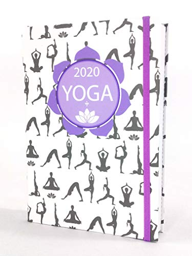 Agenda YOGA 2020 + 2 mesi - Giornaliera, tascabile, 12x17 cm, YOGA, Anno 2020 - DG61, con segnalibro, Paper-o