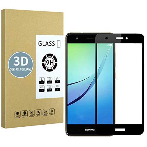 E-Hamii Protector de Pantalla Compatible con Huawei Nova Plus[Negro],[Alta definición][Anti arañazos],Cristal Templado...