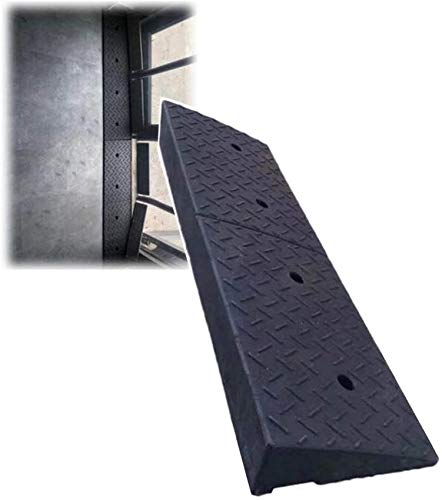 YLLN Rampa de acera Pendiente de Carretera Car out Silla de Ruedas Pasos ascendentes Almohadilla Impermeable Transporte Antideslizante, 7 tamaños (Color: Negro, Tamaño: 100x25x9cm)
