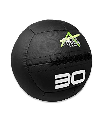 ALPHA STRONG Bullet Proof Medicine Balls - Soft Medicine Balls - Wall Balls (14in, 30lb, Black)…