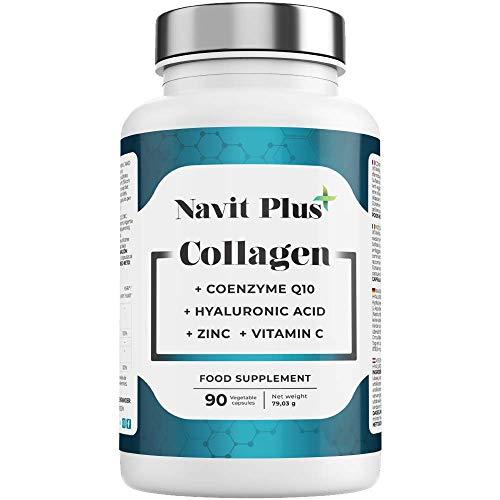 Colágeno Acido Hialurónico | Vitamina C | Coenzima Q10 | Zinc | Articulaciones, piel y huesos...