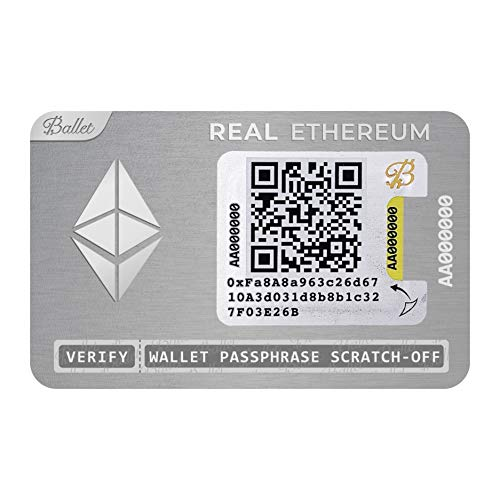Ballet暗号通貨物理ウォレット、REALシリーズステンレス鋼、イーサリアム(ETH)および多通貨サポート付き (Ethereum, 3パック)