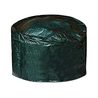 Fire Pit Cover Round - Anti-UV Windproof Bbq Covers Waterproof Heavy Duty Large Garden Patio Fire Pit Bowl Cover with Drawstring, Firepit Cover for Outdoor Barbecue Oven, Stove (84 X 50 X 0.5 Cm) from Winsome