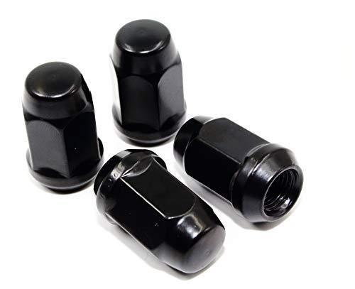 """Set of 20 Veritek 12x1.5mm Black Bulge Acorn 3/4 Hex Lug Nuts 1.40"""" Conical Seat Aftermarket Custom Wheels"""