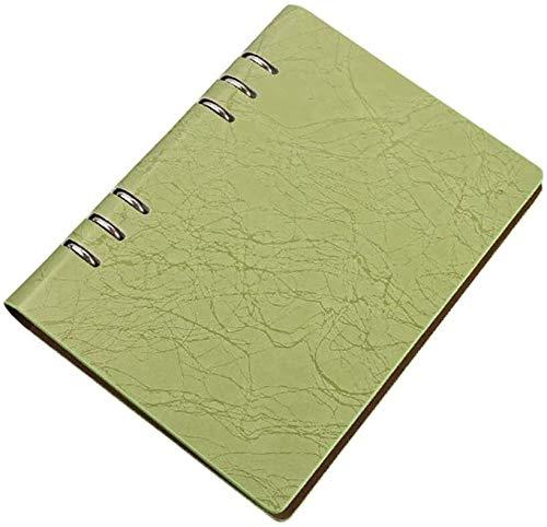 Cuaderno espiral de hojas sueltas cubierta del cuero del cuaderno del negocio Bloc de notas diario de viaje cuaderno de Oficina de la Escuela dljyy