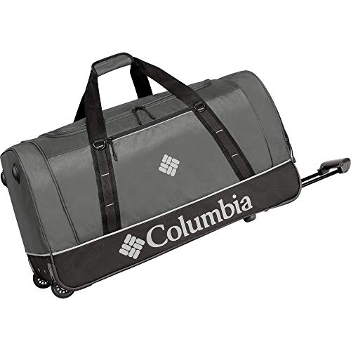 Columbia Wheeled Duffle Travel Bag - 26 Inch Large Rolling Lightweight Luggage Bags for Men , Grey
