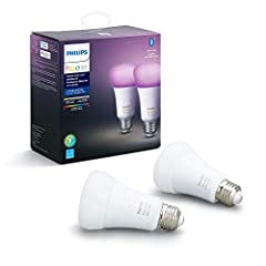 Simple to Get Started; Set the mood with 16 million colors. Control your Philips Hue Smart Lights all with just the touch of a button on your mobile device or your favorite voice assistant. Add up to 10 Hue Bluetooth/Zigbee smart bulbs with the (free...