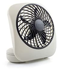 DURABLE CONSTRUCTION: To provide long-lasting strength and use, this personal fan is expertly crafted using durable plastic construction with a patented fan blade design which extends the battery life while maximizing airflow. The fan tilts and provi...
