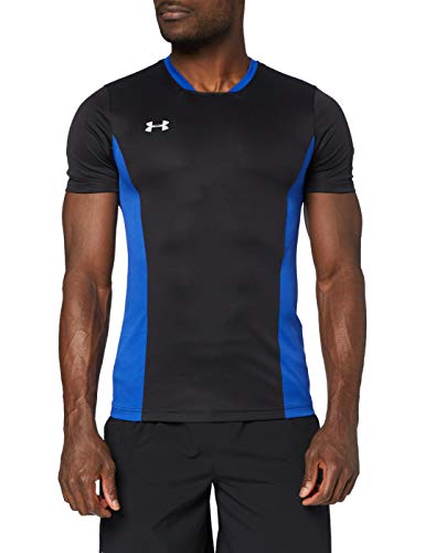 Under Armour - Challenger Ii Training - T-Shirt - Homme - Noir (Noir/bleu) - Taille: S (Taille Fabricant: SM)