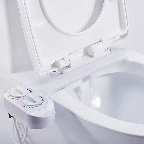 BTASS - Attacco per Sedile WC con ugelli autopulenti e valvole in Ceramica per Controllo della Pressione dell'Acqua, Facile Installazione Fai da Te, Colore: Bianco