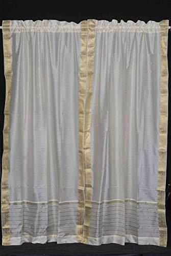 Indian Selections - Cortina transparente con bolsillo para barra de cortina, color...