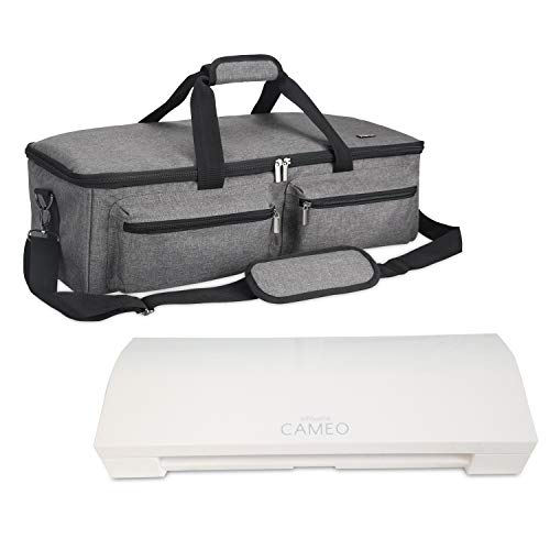 Luxja Bag for Silhouette Cameo 3, Carrying Case for Cutting Machine and Accessories, Compatible with Cricut Explore Air (Air2), Cricut Maker and Silhouette Cameo 3, Gray (Patent Pending)