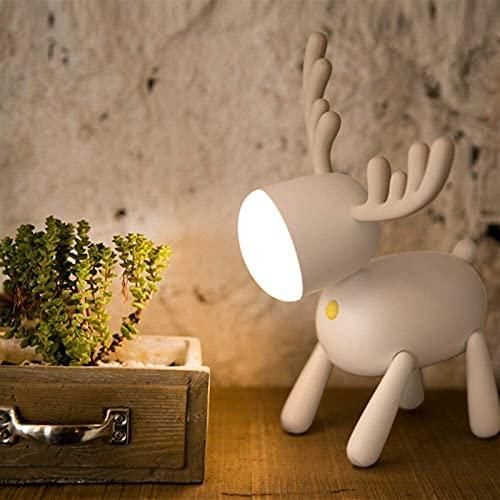 nakw88 Nuova Letto per Bambini LED novità 麋鹿 Night Light Smart Timing Interruttore di Tempo Sorgente Luminosa ABS + PC + Materiale in Silicone Lampada da Tavolo Dimensioni 16.9 * 15.9 * 24 cm Lampada