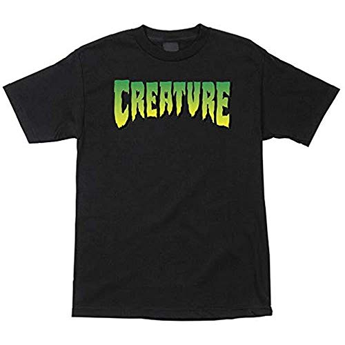 Creature Skateboard Regular Logo Tee Mens T-Shirt Black M L XL 2XL