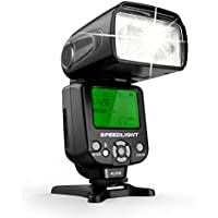 Geekoto GT53 Camera Flash Speedlite, LCD Display and Multi for Canon Nikon Sony Panasonic Olympus Pentax DSLR, Digital Cameras with Standard Hot Shoe