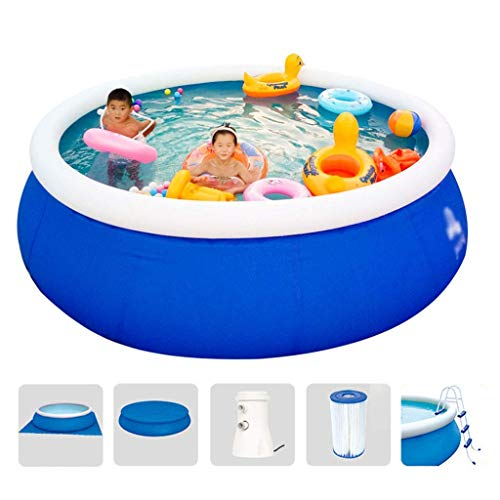 DSHUJC Round Inflatable Family Swimming and Paddling Pool with Filter Pump and Ladder,Summer Water Supplies, Best Gift for Family 457x122cm