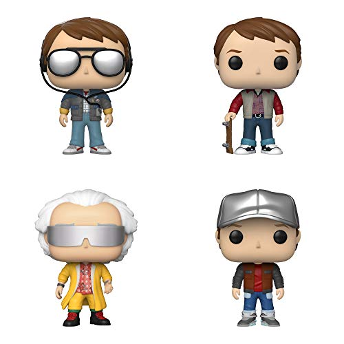 Funko Movies: POP! Back to The Future Collectors Set 3 - Marty w/ Glasses, Marty 1955, Doc 2015, Marty in Future Outfit