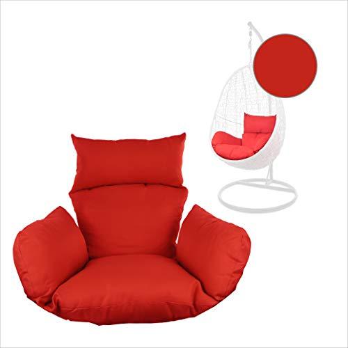 Kideo® Sitzkissen für Hängesessel, Swing Chair Kissen, Ersatzkissen, Wechselkissen, waschbar, 2-teilig, rot, Uni (Nest, 3050 Scarlet)