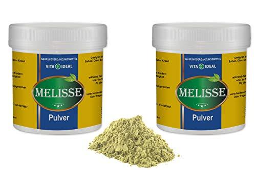 VITAIDEAL ® Melisse Kraut PULVER 2x300g (Melissa officinalis) + Messlöffel von NEZ-Diskounter