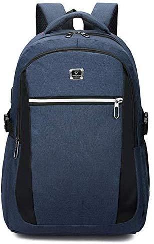 USB-Schnittstelle Laptop-Computer Rucksack Männer Frauen Schulrucksack Schultaschen Großraum-ReiserucksackBlau