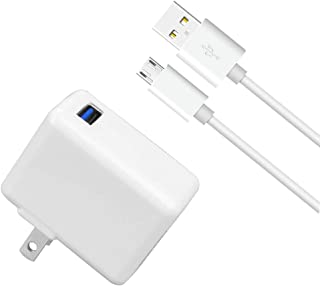 LOVEPEA Kindle Fire Fast Charger, 12W 2.4A Rapid AC Adapter with 5ft Micro-USB Cable for Fire Tablet, Fire HD 8, 7 10,Kids, Fire Stick, Echo Dot, Paperwhite, Samsung-Galaxy Note, Tab A,E,S,S2,7,8