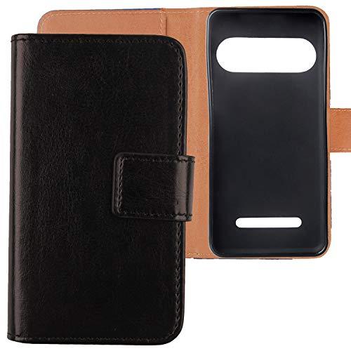 Lankashi Premium PU Leder Tasche Hülle Für Doro Liberto 8035 Handy Flip TPU Silikon Schale Brieftasche Schutz Hülle Cover Etui Schutzhülle Handyhülle Handytasche Handy Abdeckung (Schwarz)