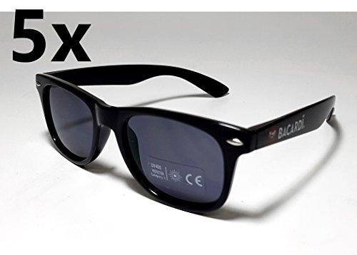 Bacardi Sonnenbrille Nerd Brille UV 400 Schutz - 5er Set