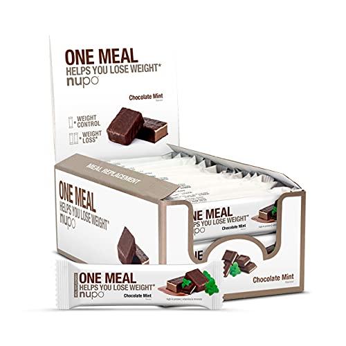 Nupo Nupo one meal maaltijdvervanger Chocolade Mint proteine reep
