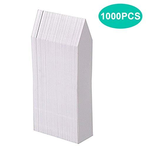 KINGLAKE 1000 Stück Plastik Pflanzenstecker Weiß 10 x 2 cm, Kunststoff Pflanzenschilder Wetterfest Garten Stecketiketten Pflanzen Etiketten