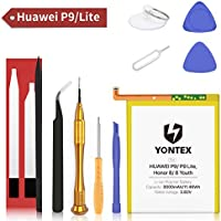 YONTEX Batería para Huawei P9 Honor 8, Batería de Repuesto HB366481ECW Compatible con P9 / P9 Lite, Honor 8/8 Juventud con Kit de reparación, 3000mAh reemplazo de batería 0 Ciclo