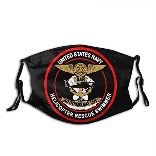 Us Navy Rescue Swimmer Logo Soft Comfortable Dustproof Face Unisex Dust Face-Black-1PCS