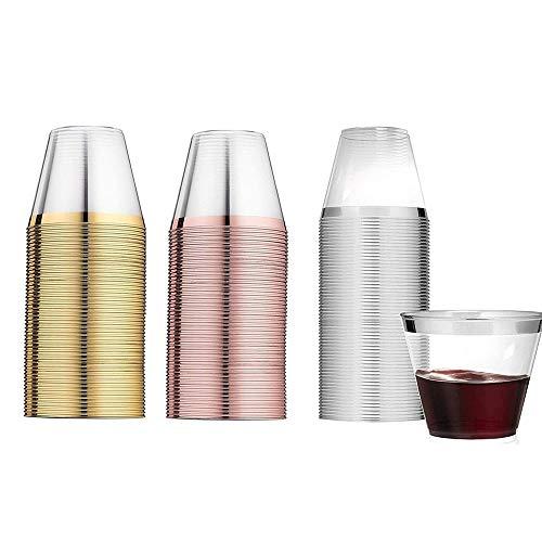 Vasos de Plástico,36 Piezas Vasos Desechables de Plástico,Vasos de Plástico Apilables,Vaso de...