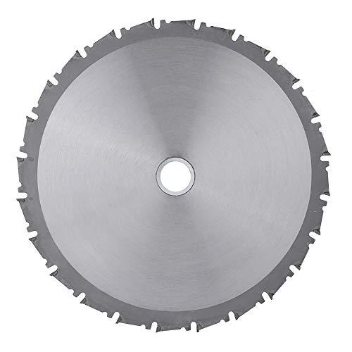 Hoja de sierra circular + arandelas Hoja de sierra circular de carburo para madera Disco de corte TCT 210 * 25,4 mm 24 dientes, para cortar acero, aluminio, hierro, metales no ferrosos, madera, plásti