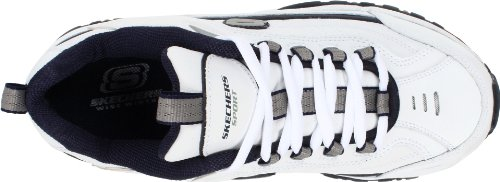 Skechers Sport Men's Energy Afterburn Lace-Up Sneaker,White/Navy,8 XW US 5