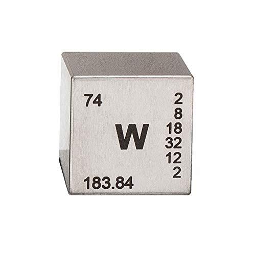 Tungsten Element Cube- Engraved - 1'