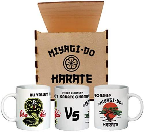 UZ Design Taza Cobra Kai Cafe con Caja Coleccionista Miyagi Do Karate...