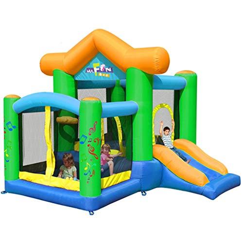 ZYCSKTL Hüpfburg ftir Kinder Hüpfburg Kinder,Aufblasbares Schloss für kleine Rutschen im Freien, großes Spielzeug für Kinder im Innenbereich, Kindertrampolin für Kinder (Color : Green, Size : 8.9ft)