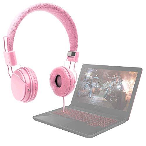 DURAGADGET Auriculares De Diadema Color Rosa para Portátil ASUS TUF Gaming FX504GD-DM883, ASUS TUF Gaming FX504GD-EN421, ASUS TUF Gaming FX504GD-EN561, ASUS TUF Gaming FX705GD-EW082